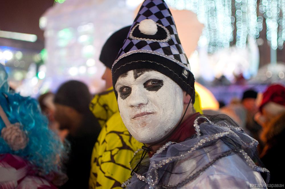 Новогодняя ночь в центре Екатеринбурга