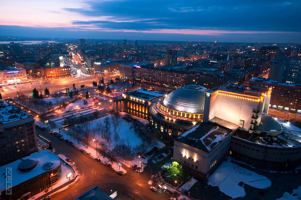 центральная часть Новосибирска площадь Ленина