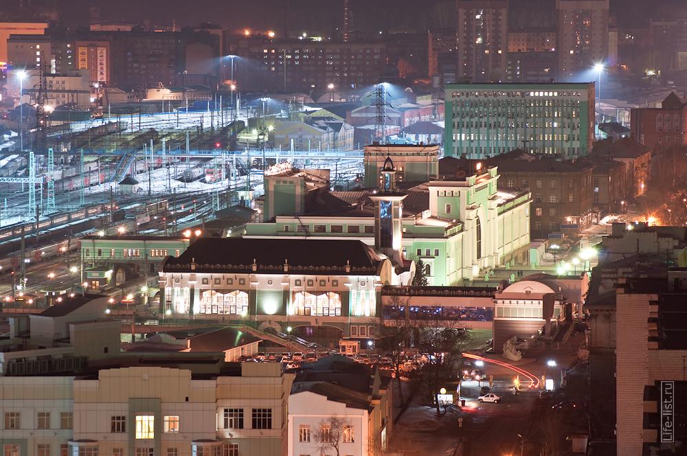 Новосибирский вокзал ночью