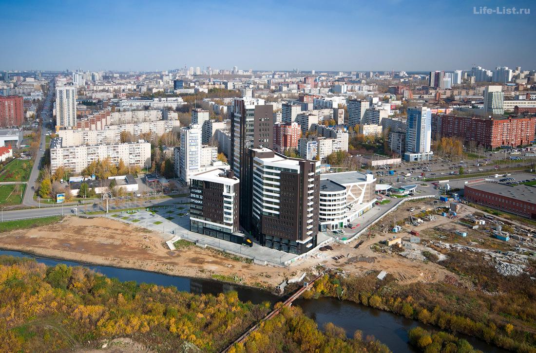 Екатеринбург с высоты птичьего полета фото Виталий Караван