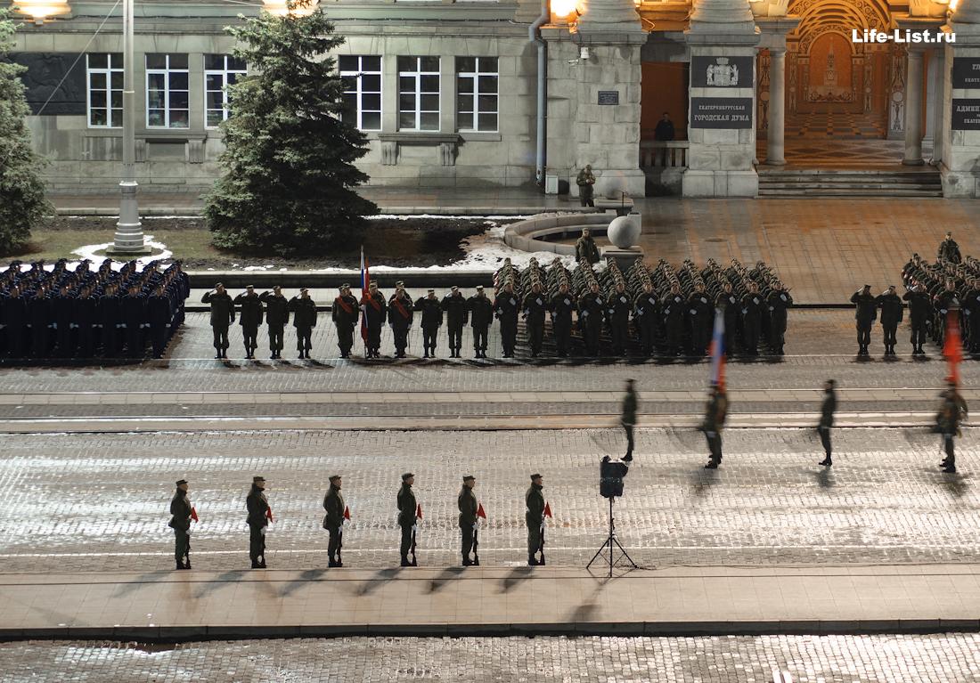 Репетиция военного парада в Екатеринбурге фото с высоты Виталий Караван