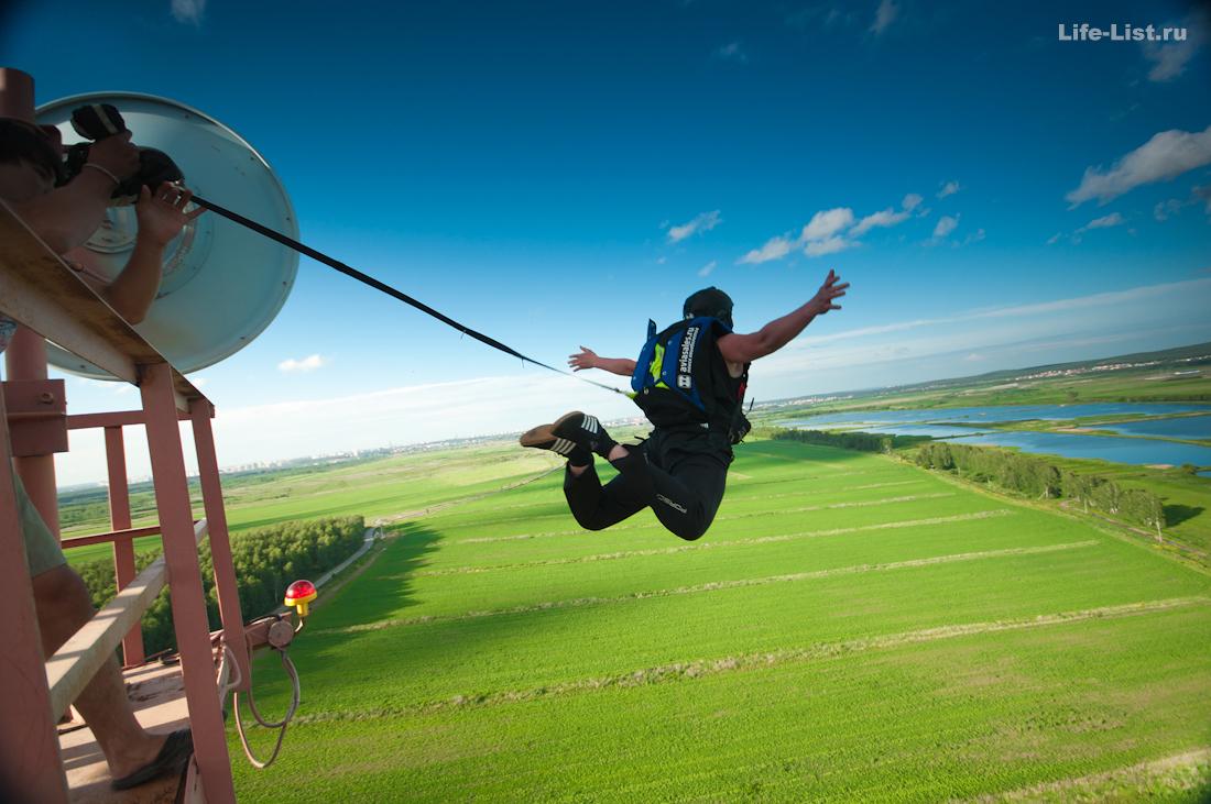 Бейсджамп прыжок с антенны фото Виталий Караван
