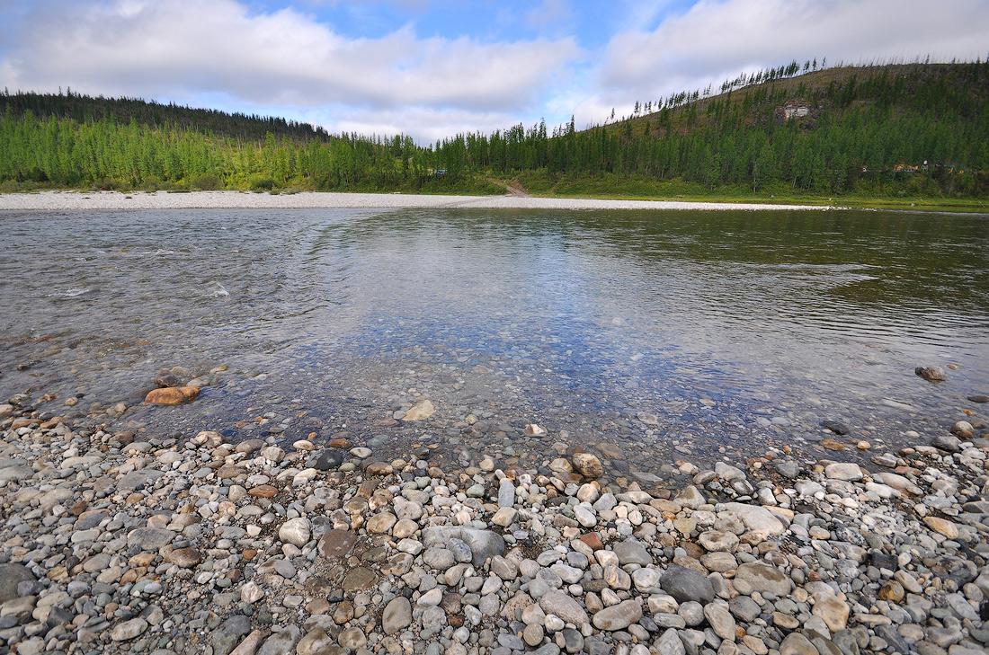 Река Кожим место переправы на вахтовке парк Югыд Ва