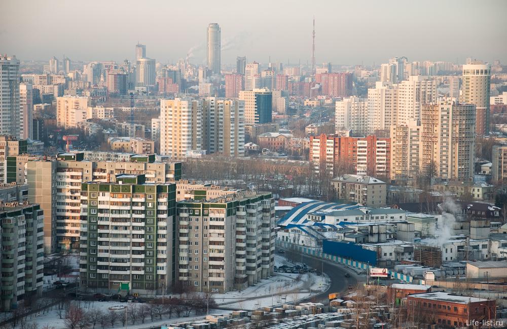 улица Крестинского Екатеринбург с высоты