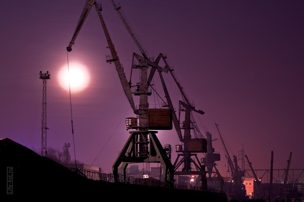 фотографии портового крана фото Виталий Караван Новосибирск