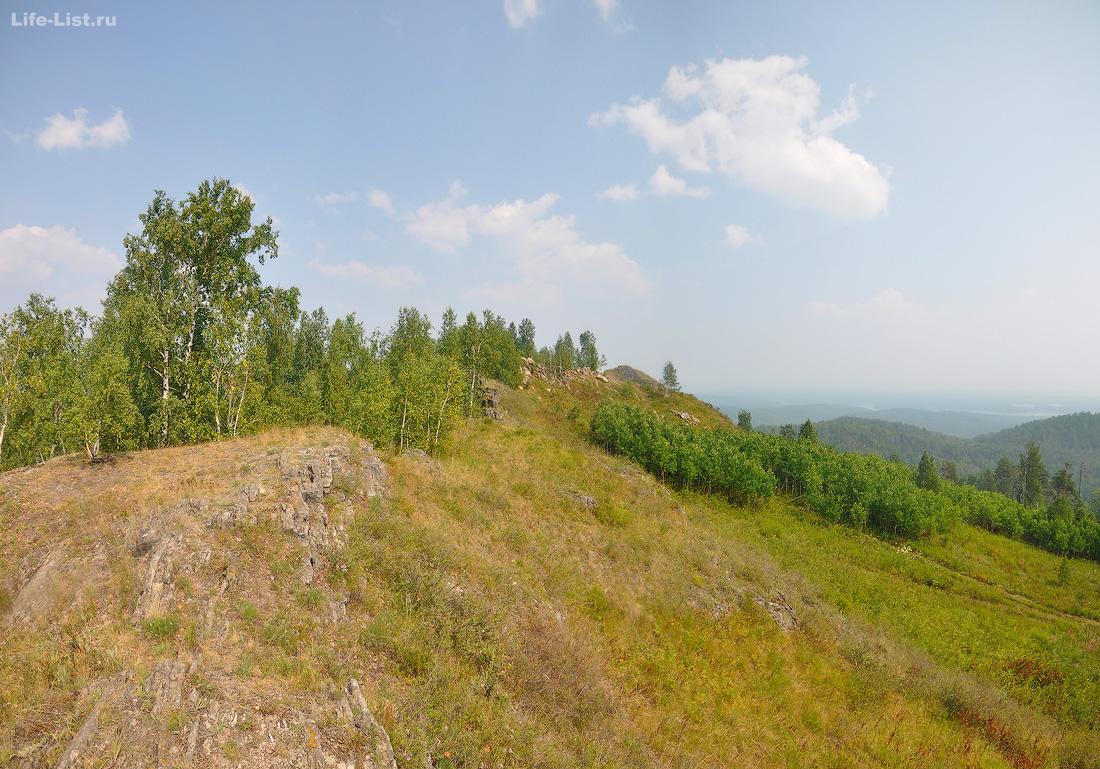 Потанины горы вершина Челябинская область
