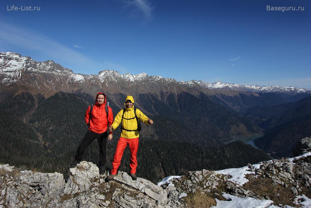 Поход на гору Пшегишхва в Абхазии Виталий Караван и Ратмир Нагимьянов