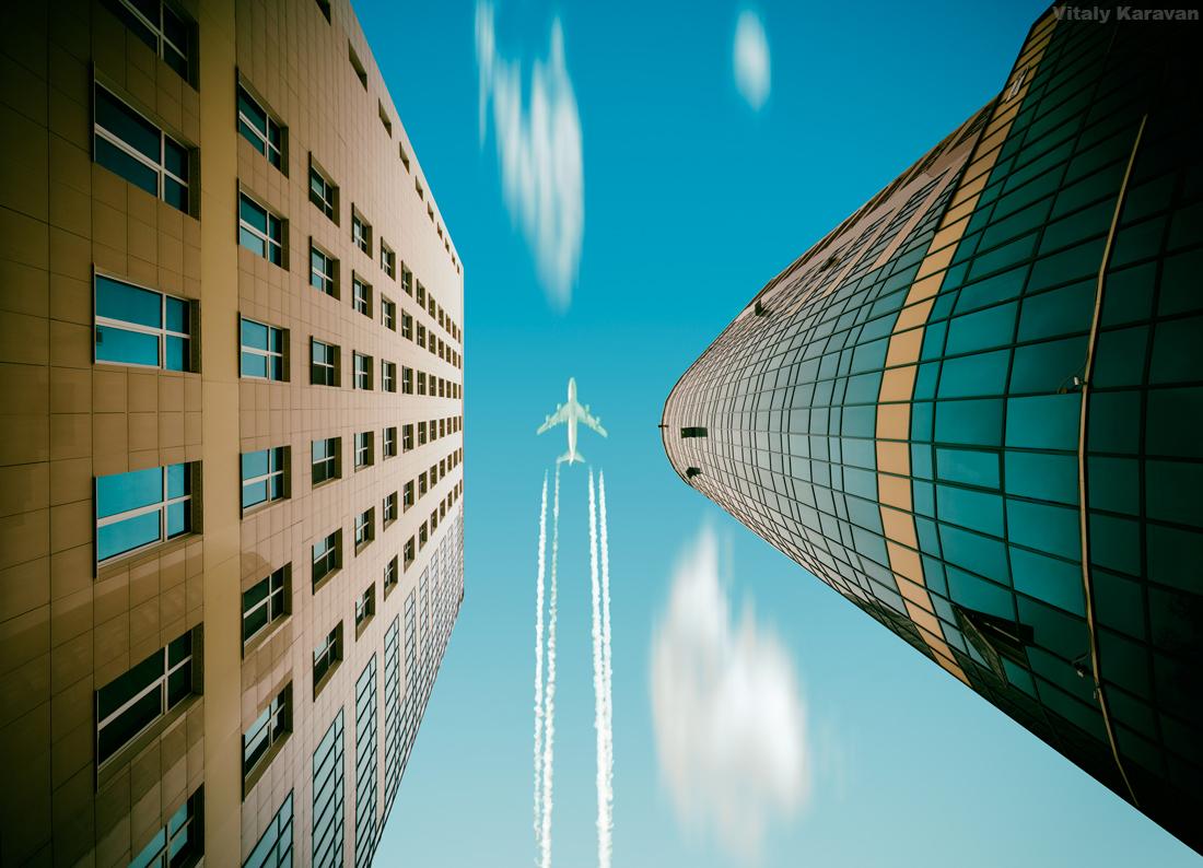 БЦ Штольц и самолет Екатеринбург фото Виталий Караван