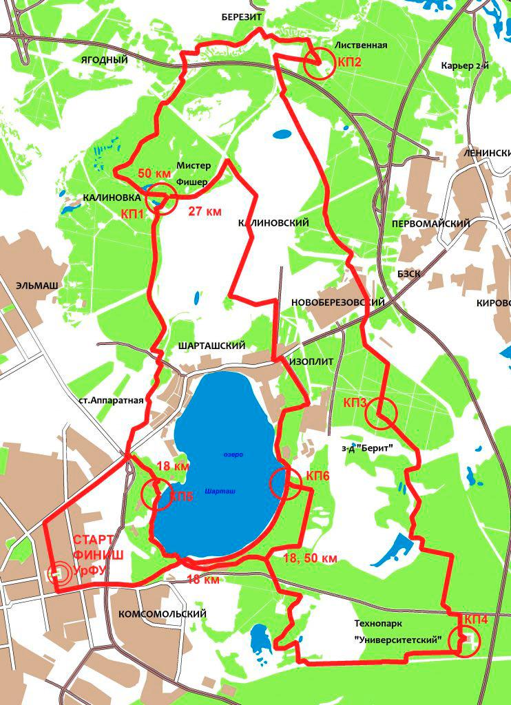 карта Майское прогулке 2017 Екатеринбург