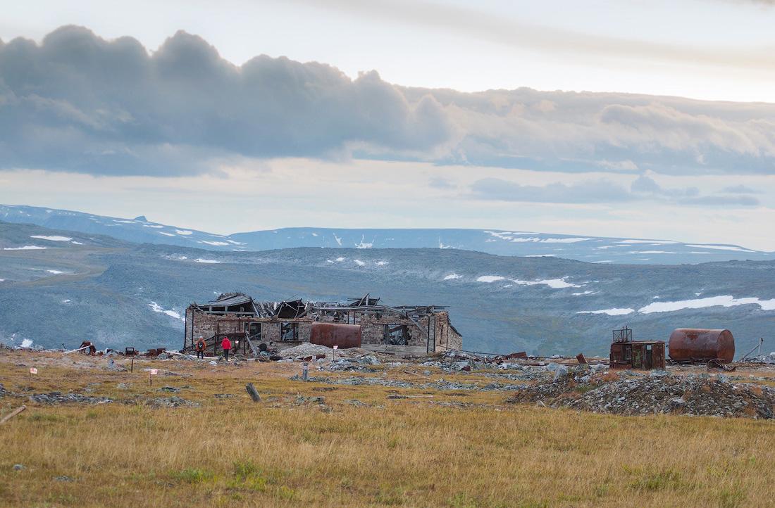 Заброшенные постройки на гора Баркова парк Югыд Ва