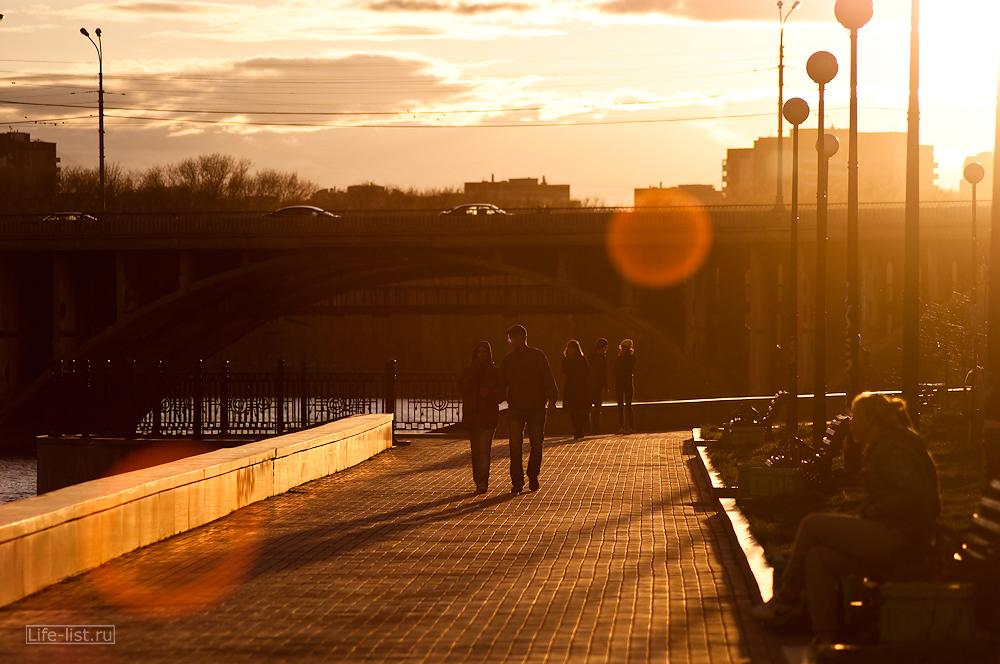 золотая набережная Екатеринбург красивое фото