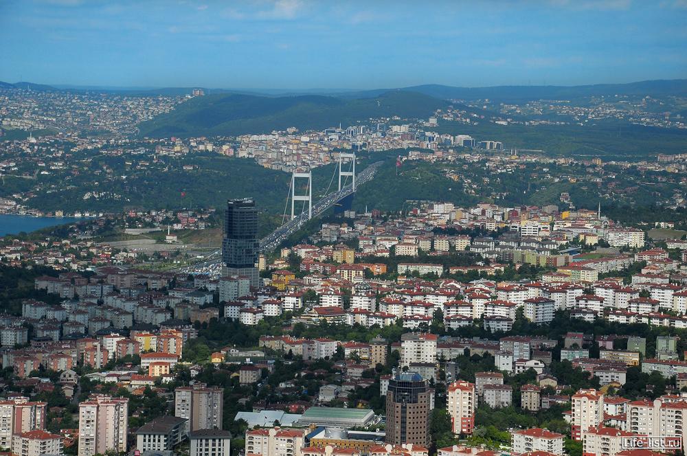 Вид на мост через Босфор Стамбул