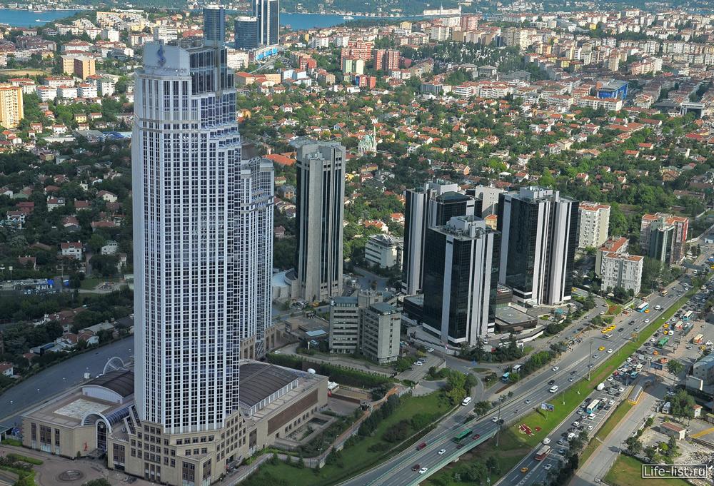 Стамбул с высоты небоскреба Сапфир