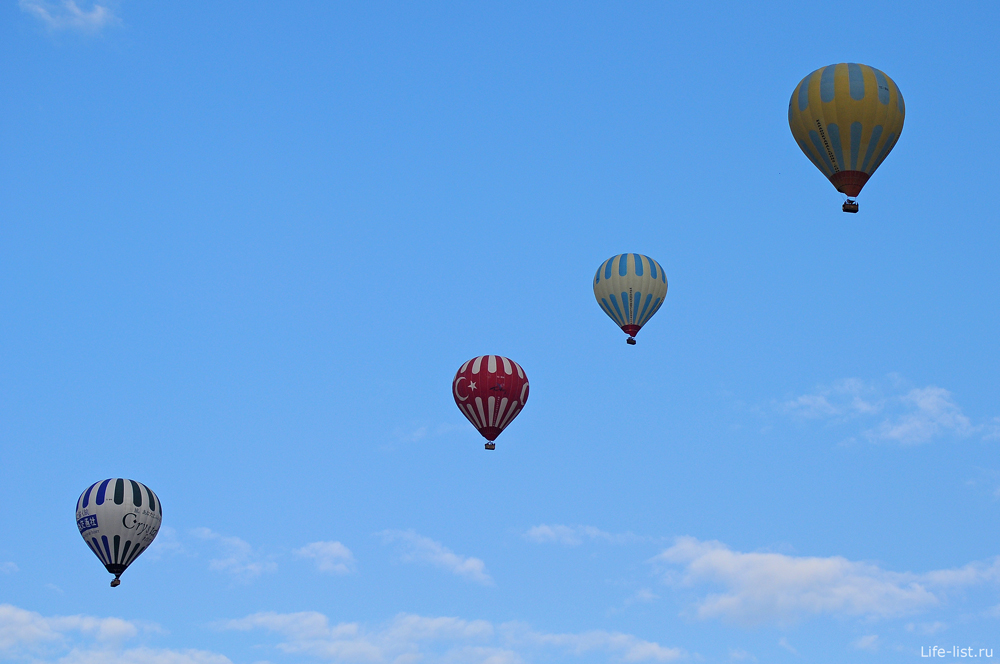 Гереме родина воздушных шаров