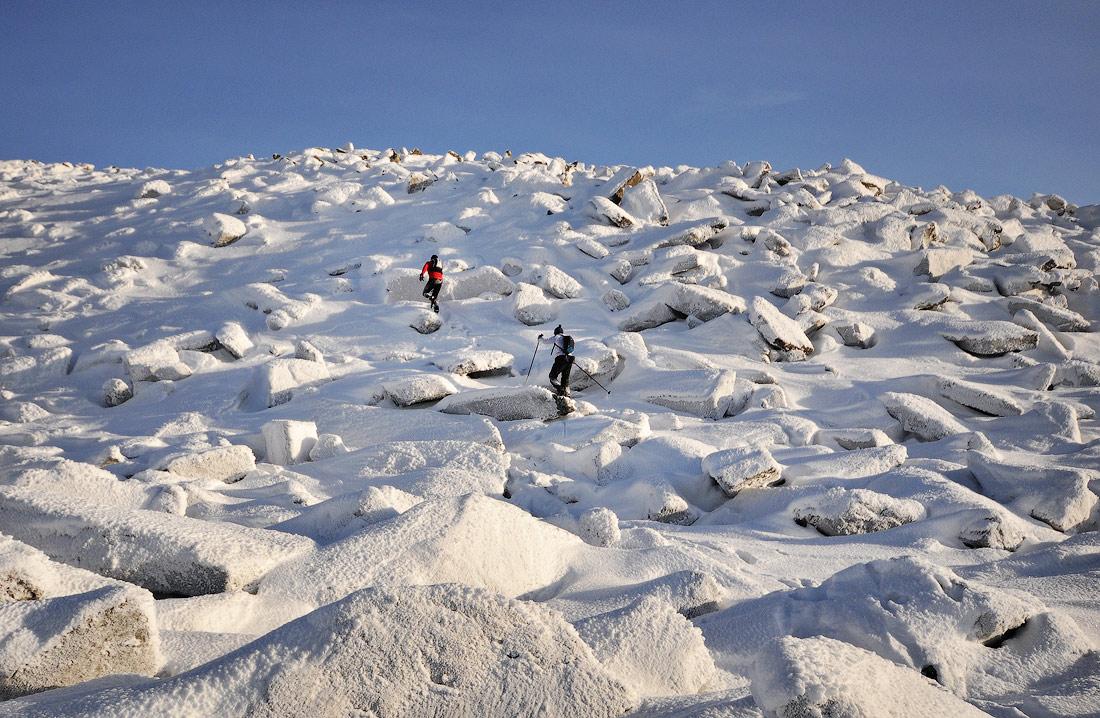 гора Большой Шелом зима восхождение южный урал