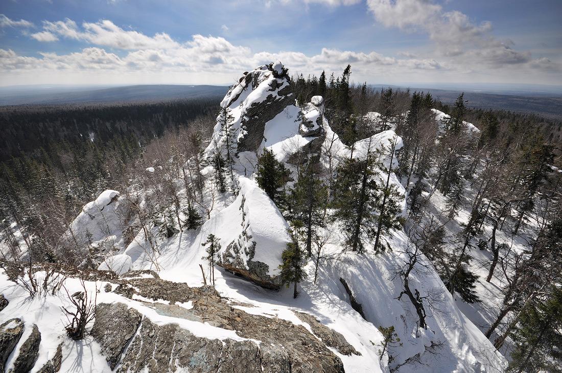 Зимний Шунут камень Уральские горы Екатеринбург