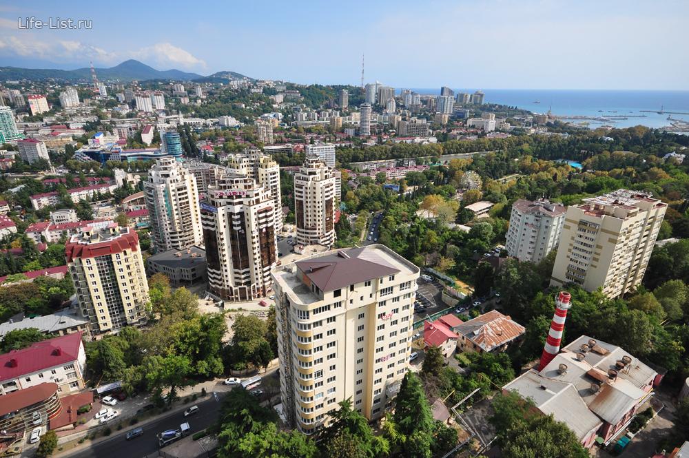 Сочи с высоты высотный центральный сочи новостройки фото Виталий Караван