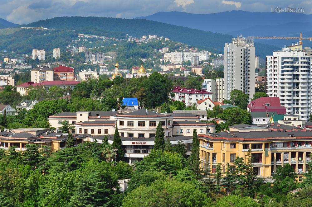 санатории Красмашевский с высоты Сочи фото