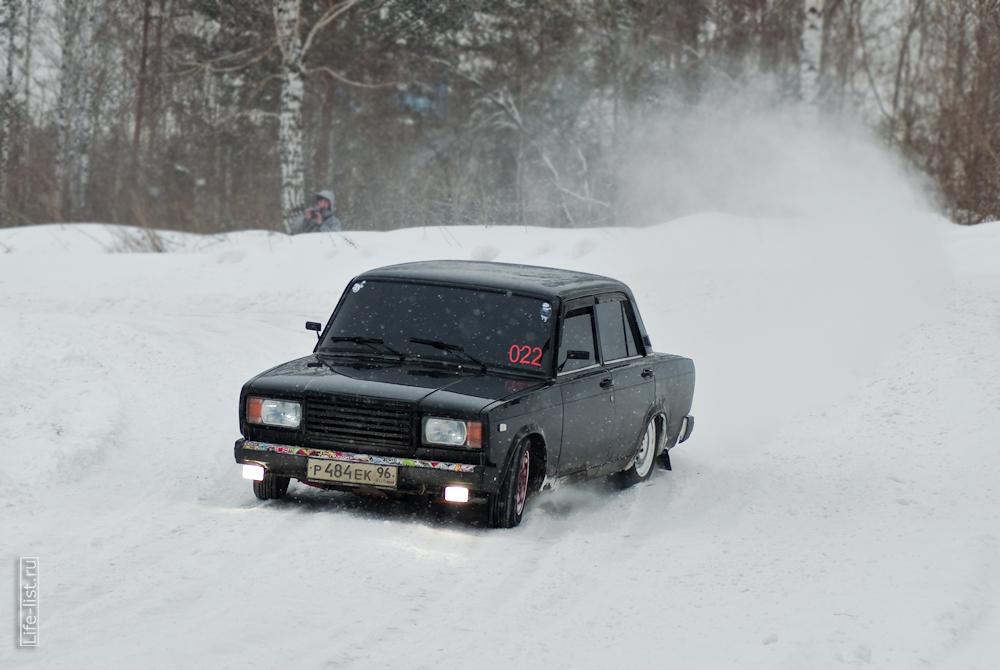 семерка на зимнем спринте трасса шахта Южная Березовский