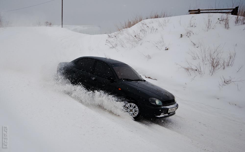 заезд зимний спринт Березовском автомобильный экстрим