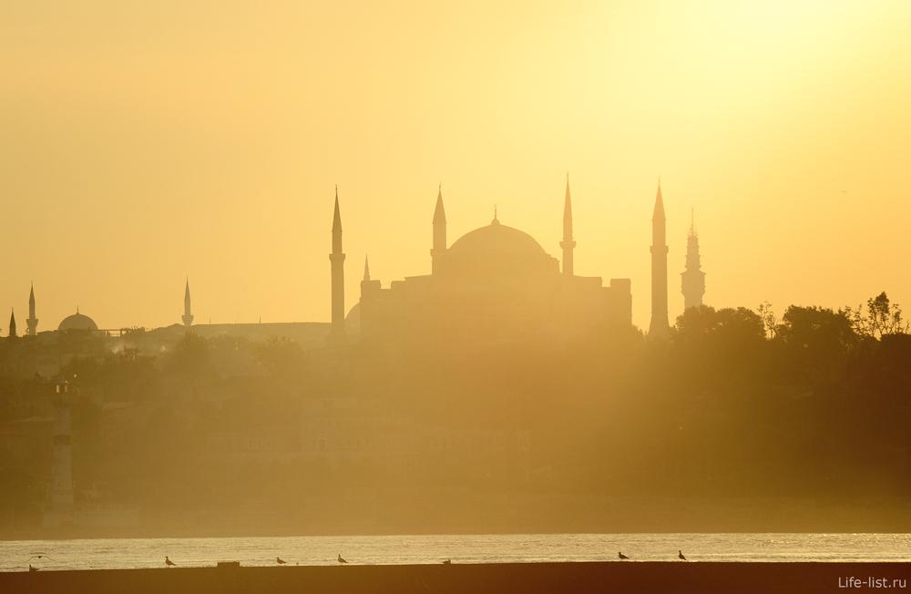 Стамбул Мечети закат