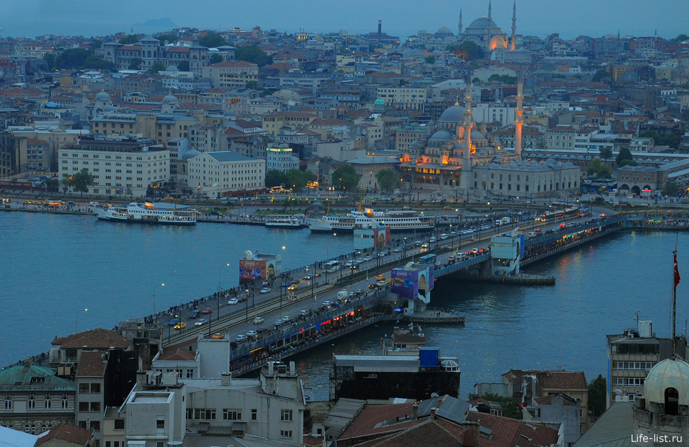 Вид на Галатский мост