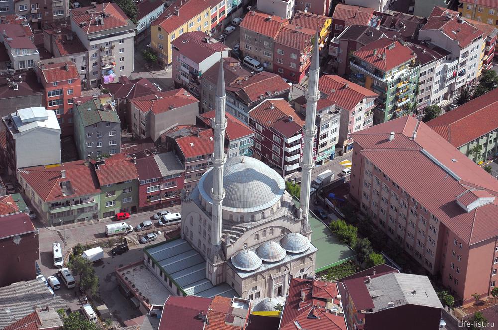 Стамбульская мечеть с высоты