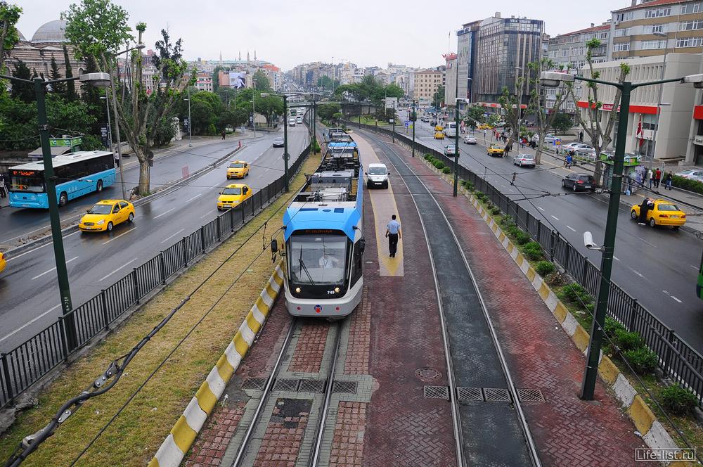 Трамвай в стамбуле Турция