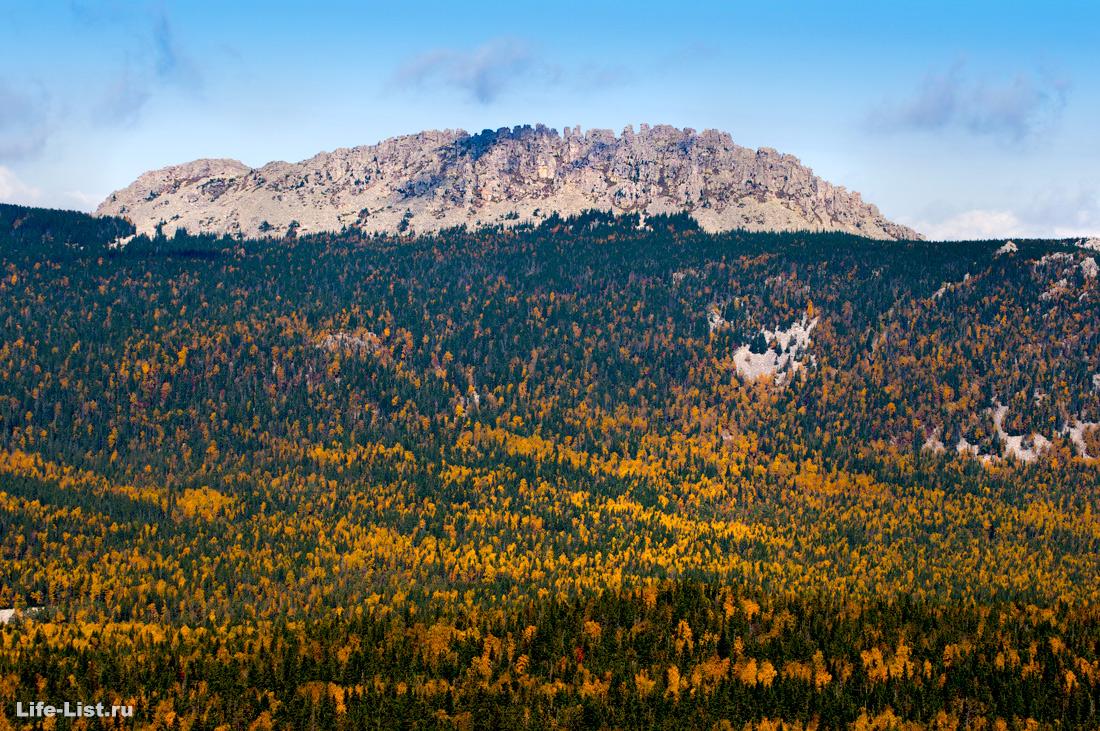 вид с горы Монблан на Откликной Гребень Таганай