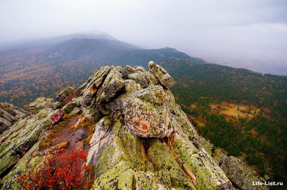 фото на вершине Откликной Гребень Южный Урал парк Таганай