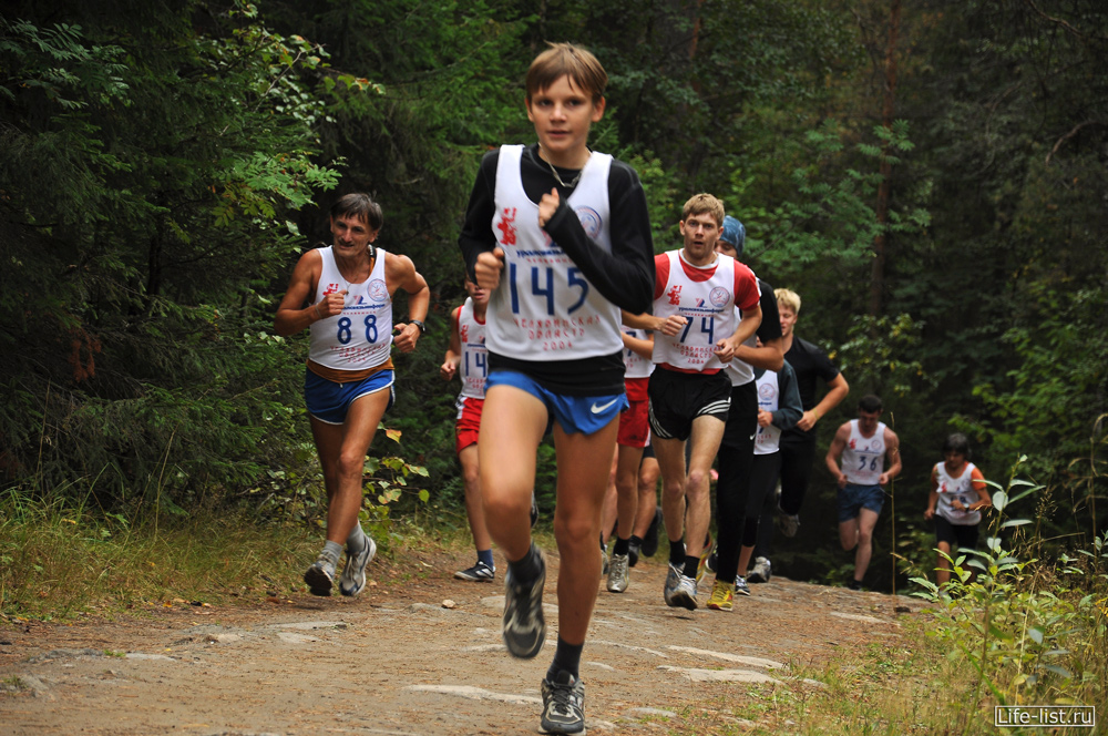 марафонцы бегут дистанцию златоуст забег за облака фото