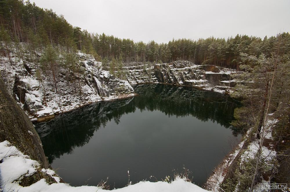 Озеро Тальков Камень зима снег фото Виталий Караван