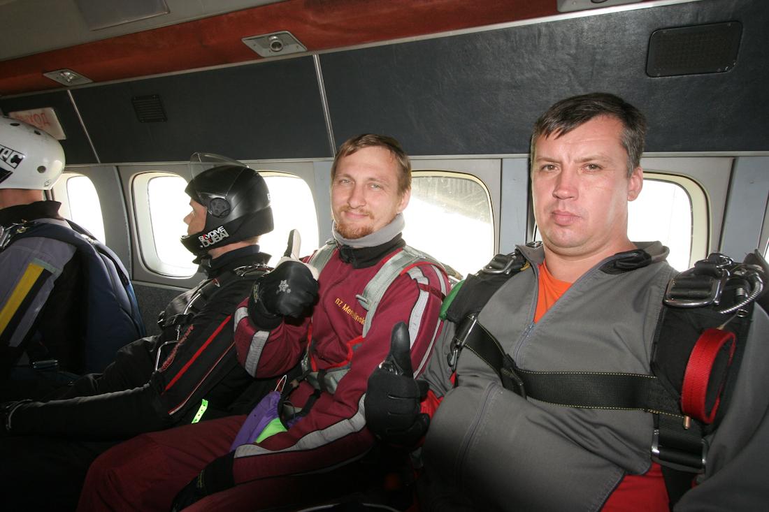 в самолете фото перед первым тандем-прыжком