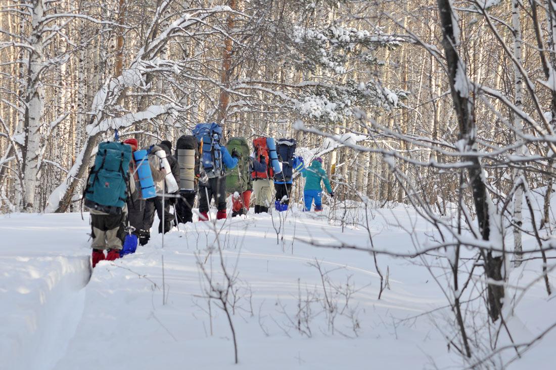 группа в лыжном походе Уральские тропы