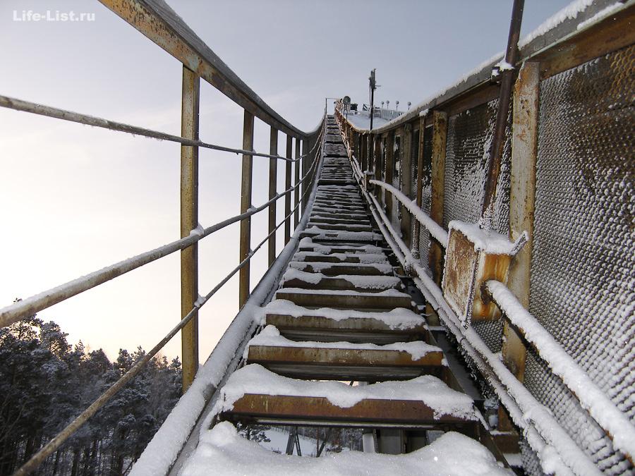 Трамплин на Уктусе екатеринбург лестница наверх