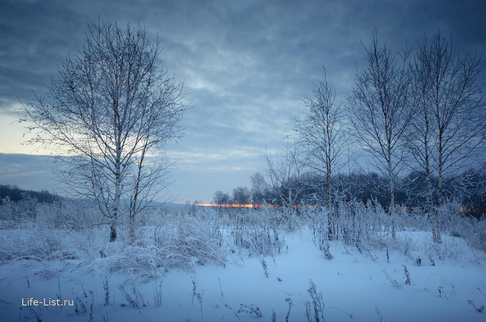 русская зима красивое фото