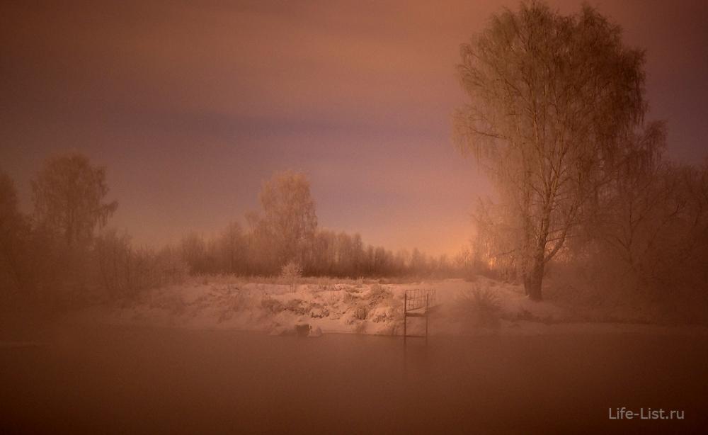 красивое фото река мороз зима урал Исеть
