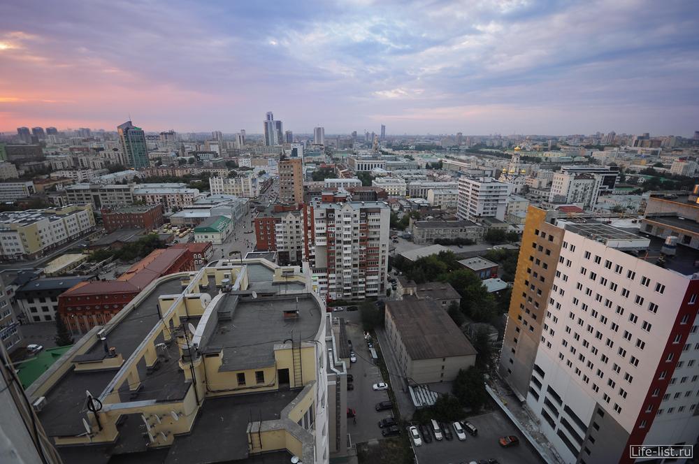 вид с ЖК Кольцо Екатерины Екатеринбург с высоты