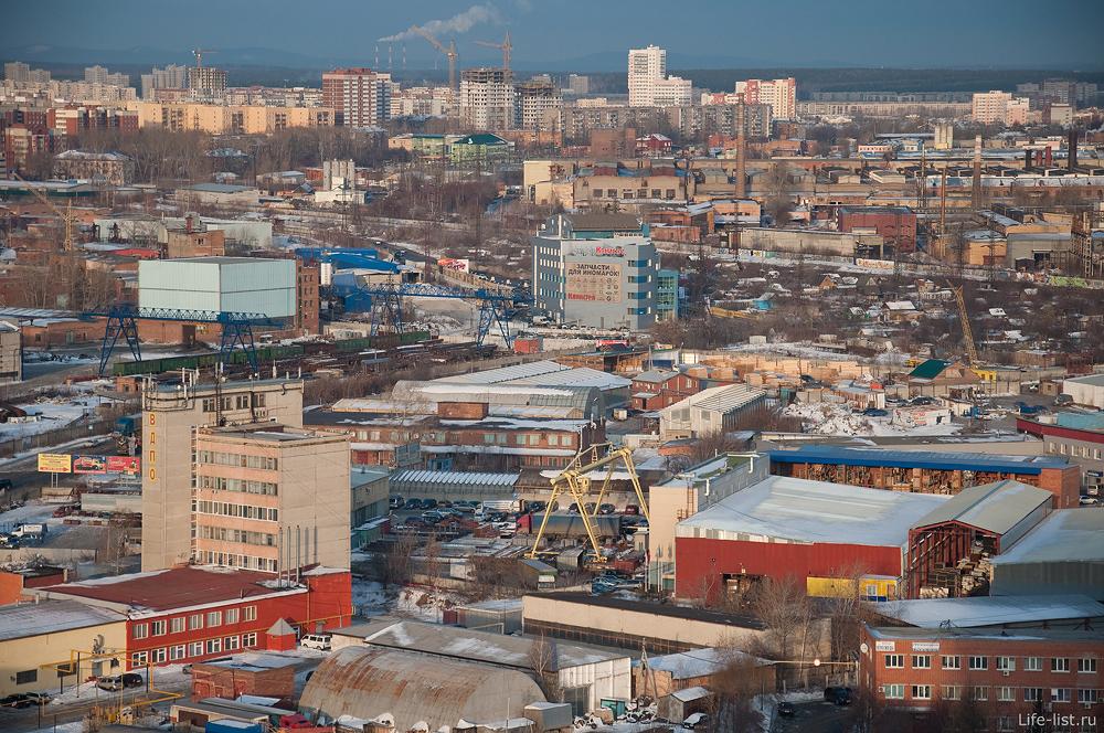 Екатеринбург с высоты заводы и фирмы