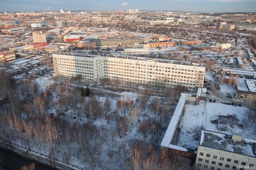 Екатеринбург с высоты больница номер 7