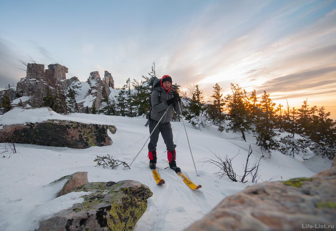 лыжный поход Витали Караван хребет Юрма