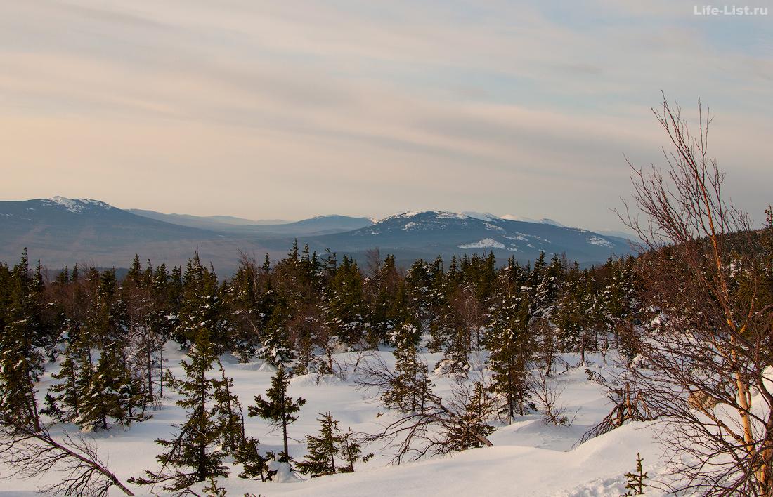 Вершины парка Тагнай с Юрмы лыжный поход