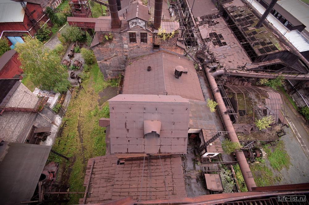 крыши цехов завода музея имени куйбышева в тагиле