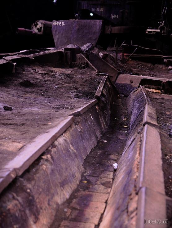 желоб для отвода руды завод музей в тагиле