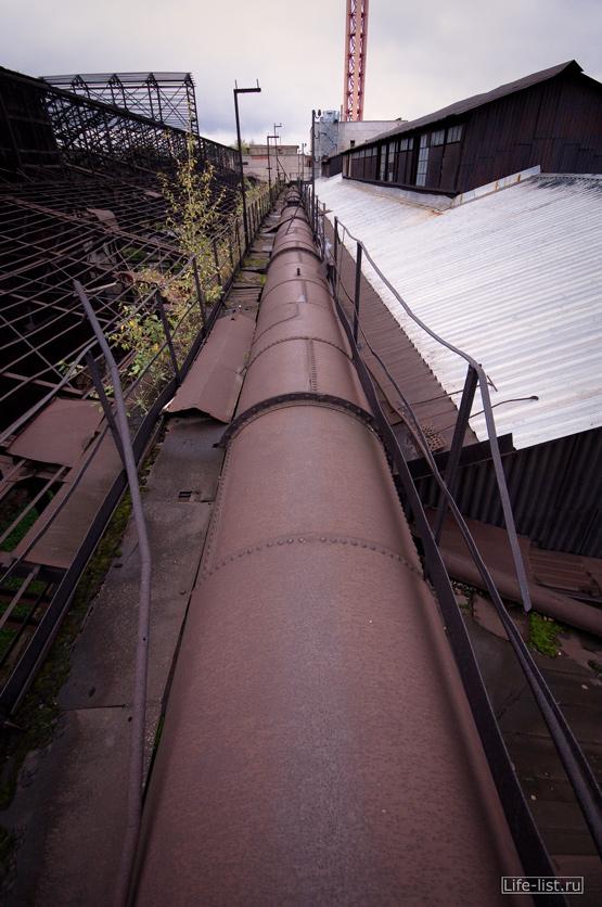 газоотводная труба завод музей