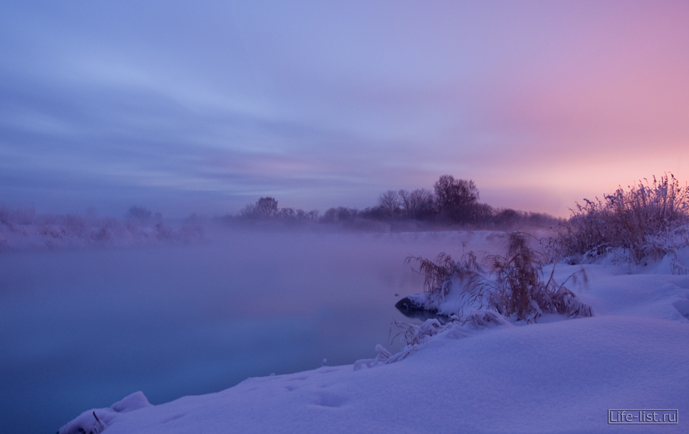 Красивая зимняя природа вечер Урал фото Виталий Караван