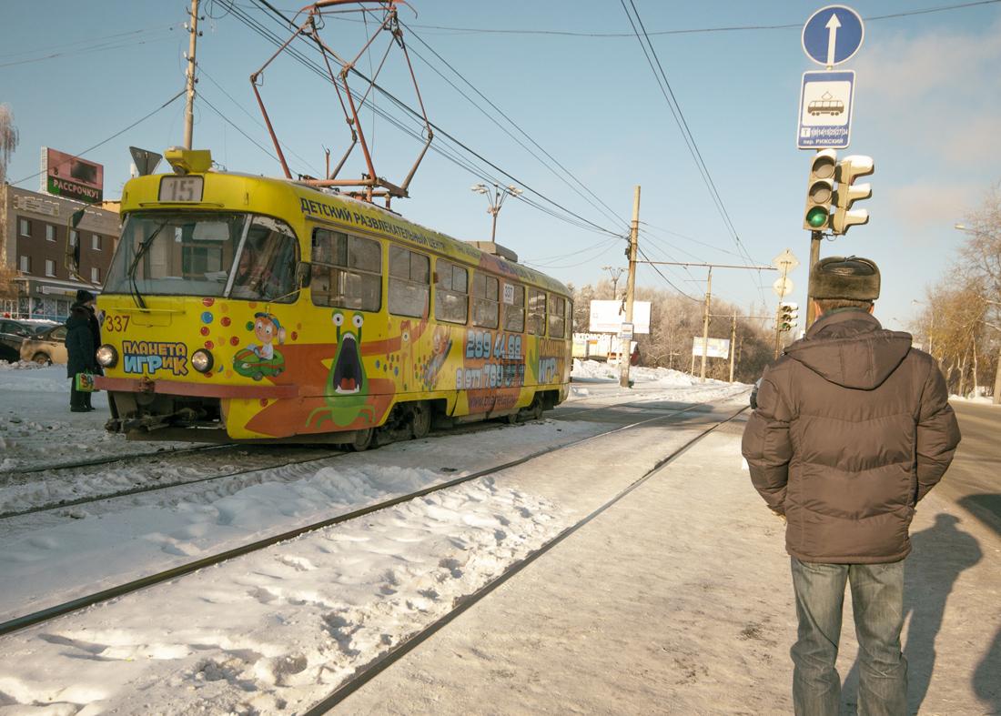 трамвай с рекламой Екатеринбург 2016 год