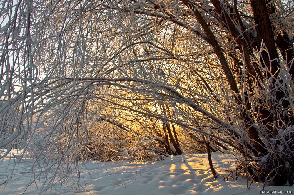Зима на Урале фото Виталий Караван