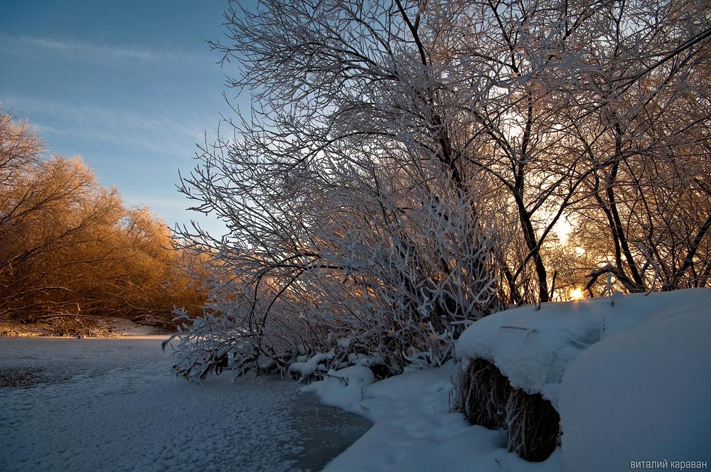 Виталий Караван сделал фото уральской зимы
