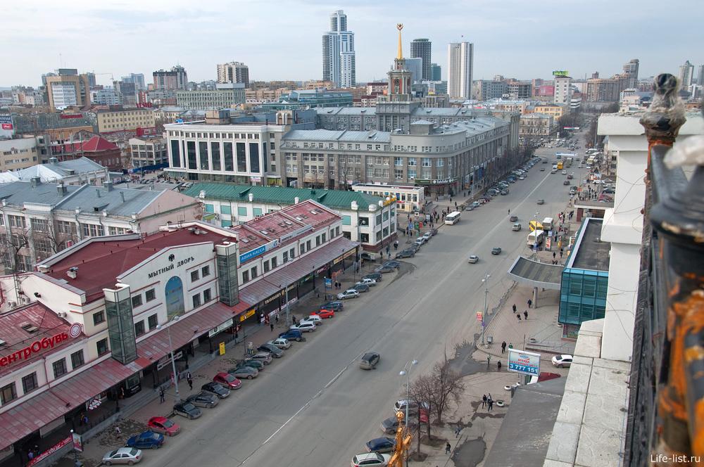 Вид с храма на ул 8 марта